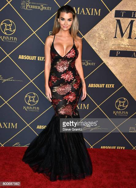 Model Emily Sears arrives at the The 2017 MAXIM Hot 100 Party at Hollywood Palladium on June 24 2017 in Los Angeles California