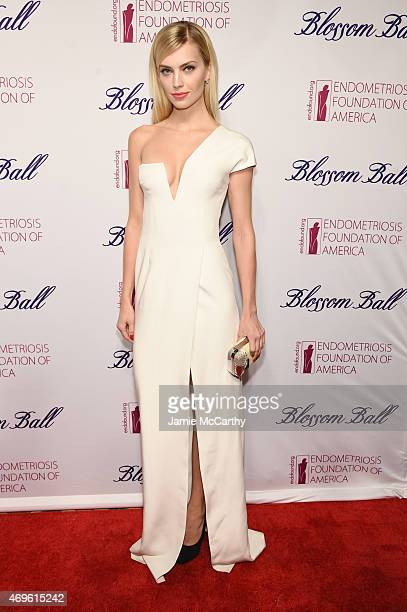 Model Emily Senko attends EFA's 7th Annual Blossom Ball at Cipriani Downtown on April 13 2015 in New York City