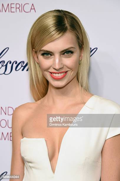 Model Emily Senko attends the 7th Annual Blossom Ball Benefiting The Endometriosis Foundation Of America Hosted By EFA Founders Padma Lakshmi And...