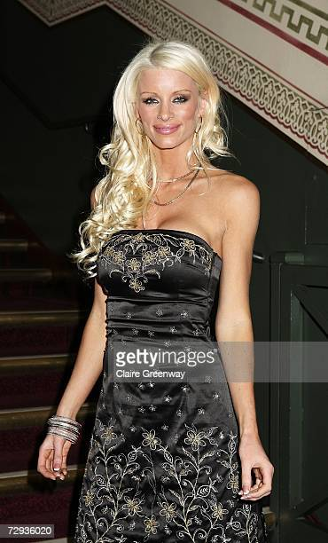 Model Emma B arrives at the VIP performance of Cirque Du Soleil's 'Alegria' at Royal Albert Hall on January 5 2007 in London England The show will...