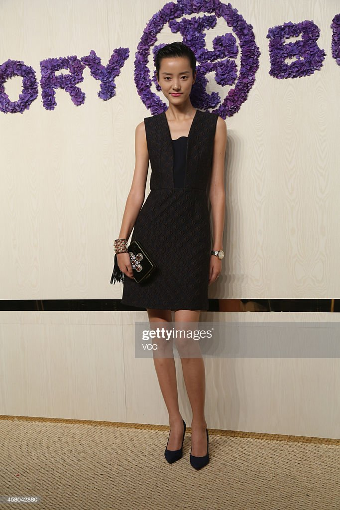 Model Emma Pei attends Tory Burch flagship store opening ceremony at Kerry Center on October 29, 2014 in Shanghai, China.