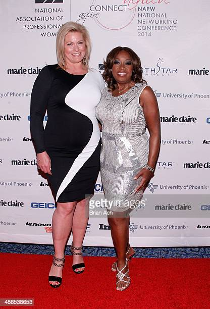 Model Emme and Star Jones attend NAPW 2014 Conference at Marriott Marquis Hotel on April 24 2014 in New York City