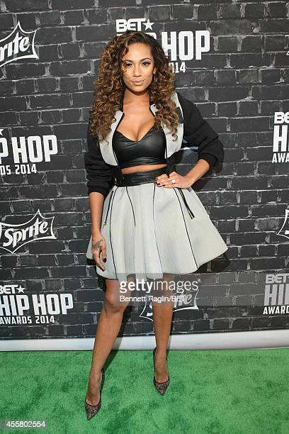 Model Erica Mena attends the BET Hip Hop Awards 2014 Style Stage at Boisfeuillet Jones Atlanta Civic Center on September 20 2014 in Atlanta Georgia