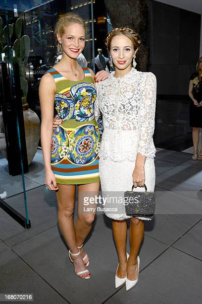 Model Erin Heatherton and DJ Harley VieraNewton attend DolceGabbana along with Giovanna Battaglia celebrate the opening of the 5th Avenue Flagship...