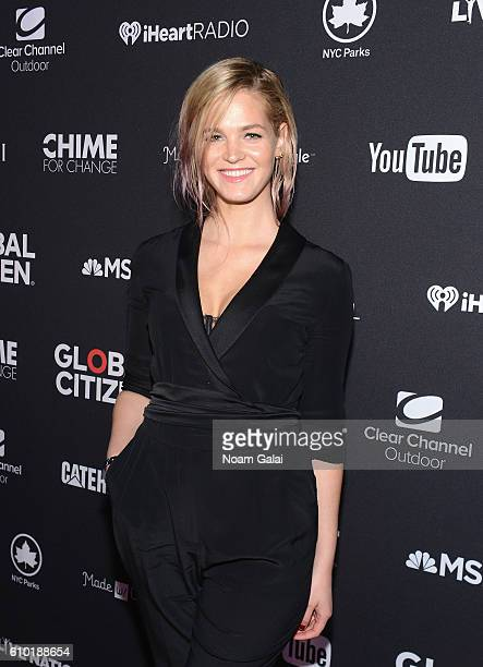 Model Erin Heatherton attends the 2016 Global Citizen Festival In Central Park To End Extreme Poverty By 2030 at Central Park on September 24 2016 in...