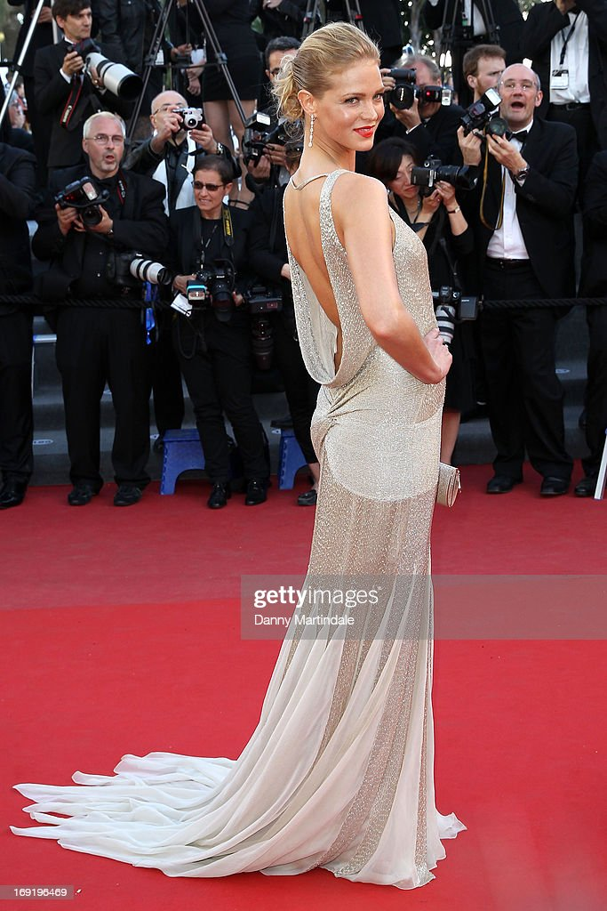 Model Erin Heatherton attends the Premiere of 'Behind the Candelabra' during the 66th Annual Cannes Film Festival at Palais des Festivals on May 21, 2013 in Cannes, France.