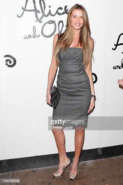Model Erin Naas arrives at the Alice Olivia Spring 2011 presentation during MercedesBenz Fashion Week at 547 West 26th Street on September 14 2010 in...