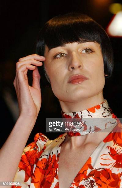 Model Erin O'Connor arrives for the UK Music Hall Of Fame live final at the Hackney Empire in east London The Channel 4 series looking at popular...