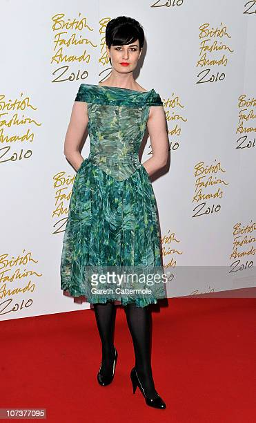 Model Erin O'Connor attends the British Fashion Awards at The Savoy on December 7 2010 in London England