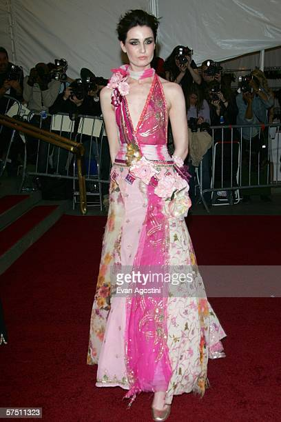 Model Erin O'Connor attends the Metropolitan Museum of Art Costume Institute Benefit Gala Anglomania at the Metropolitan Museum of Art May 1 2006 in...
