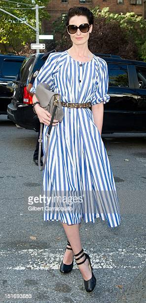 Model Erin O'Connor is seen around Lincoln Center during Spring 2013 MercedesBenz Fashion Week on September 9 2012 in New York City