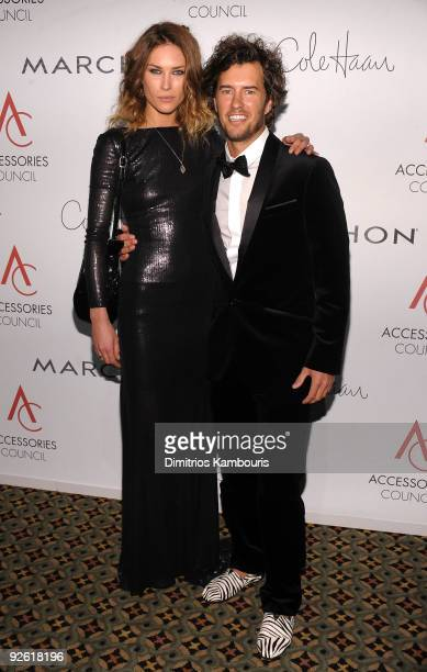 Model Erin Wasson and Blake Mycoskie attend the 13th Annual 2009 ACE Awards presented by the Accessories Council at Cipriani 42nd Street on November...