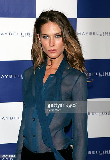 Model Erin Wasson arrives at a kickoff party for Maybelline's Beauty Studio October 26 2005 in New York City