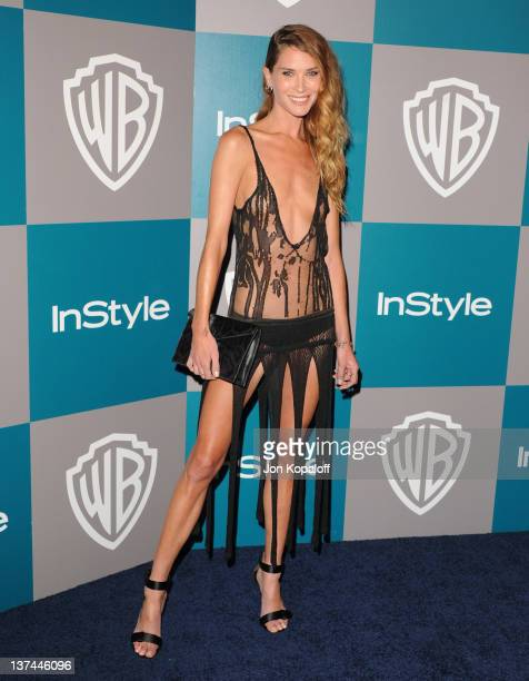 Model Erin Wasson arrives at the 13th Annual Warner Bros And InStyle Golden Globe After Party held at The Beverly Hilton hotel on January 15 2012 in...