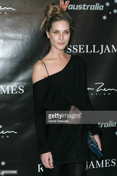 """Model Erin Wasson attends a book release party for """"Russell James"""" at the Stephan Weiss Studio on January 28, 2009 in New York City."""