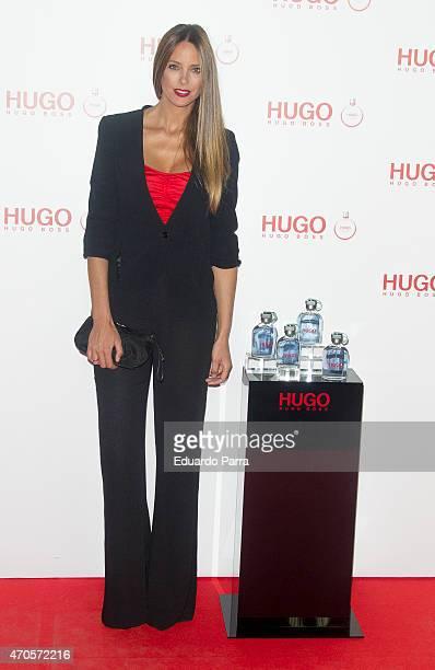 Model Estefania Luyk attends Hugo Boss Woman fragrance presentation photocall at Matadero Madrid on April 21 2015 in Madrid Spain