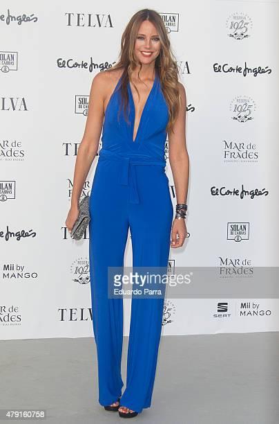 Model Estefania Luyk attends 'TELVA Fashion Catwalk 2015' photocall at Zarzuela Hippodrome on July 1 2015 in Madrid Spain