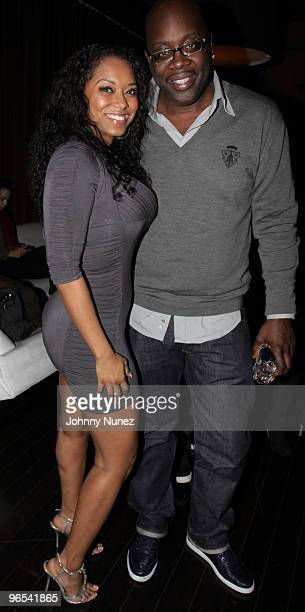 Model Esther Baxter and Mike Kyser attend Bottles Strikes Tuesday Celebrity Bowling at Lucky Strike Lanes Lounge on February 9 2010 in New York City