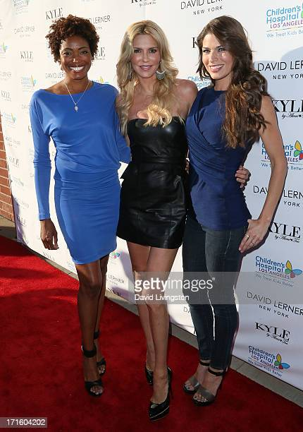 Model Etirsa Innis and TV personalities Brandi Glanville and Adrienne Janic attend a fashion fundraiser benefitting Children's Hospital of Los...