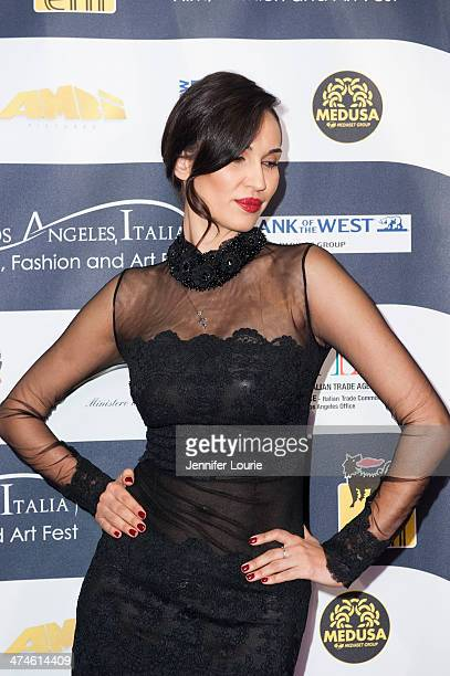 Model Eugenia Chernyshova attends the 9th annual Los Angeles Italia Film Fashion and Art Fest opening night ceremony held at TLC Chinese 6 Theatres...