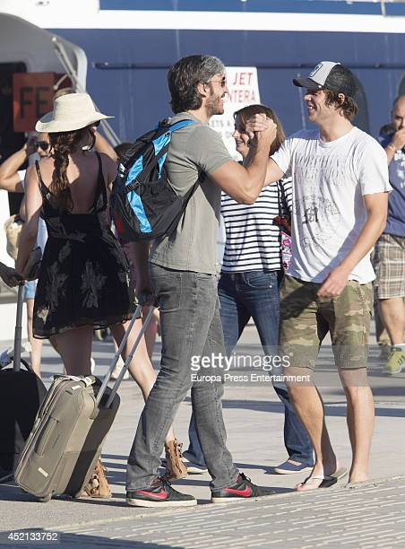 Model Eugenia Silva and Alfonso de Borbon are is seen on July 13 2014 in Ibiza Spain