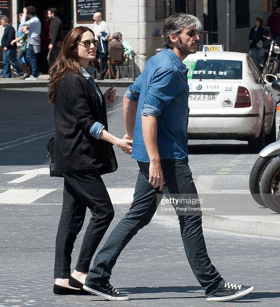 Eugenia Silva, Alfonso de Borbon and Son Sighting In Madrid - April 06, 2014