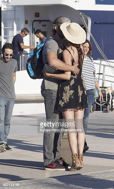 Model Eugenia Silva and Alfonso de Borbon are seen on July 13 2014 in Ibiza Spain