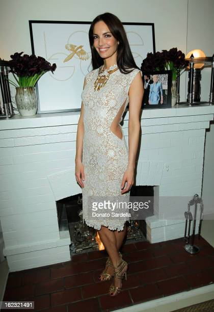 Model Eugenia Silva attends LoveGold Celebrates Fred Leighton at Chateau Marmont on February 21 2013 in Los Angeles California
