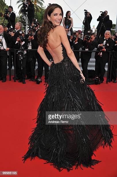 Model Eugenia Silva attends the 'Poetry' Premiere at the Palais des Festivals during the 63rd Annual Cannes Film Festival on May 19 2010 in Cannes...