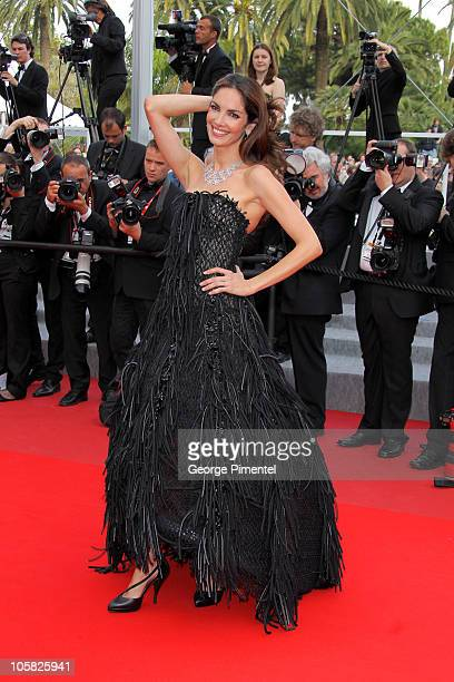 Model Eugenia Silva attends the premiere of 'Poetry' held at the Palais des Festivals during the 63rd Annual International Cannes Film Festival on...