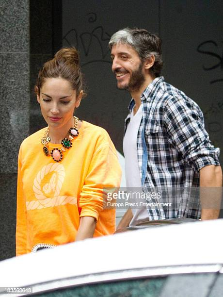 Model Eugenia Silva several months pregnant and Alfonso de Borbon are seen on September 28 2013 in Madrid Spain