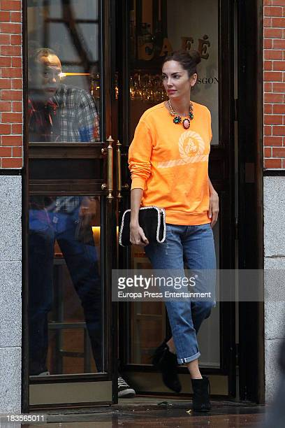 Model Eugenia Silva several months pregnant is seen on September 28 2013 in Madrid Spain