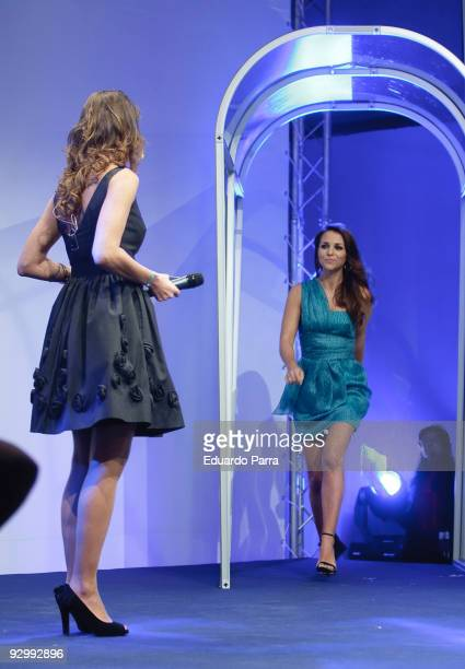 Model Eva Gonzalez and Actress Paula Echevarria attend Pantene's 10th anniversary party at the Royal Tapestry Factory on November 11 2009 in Madrid...
