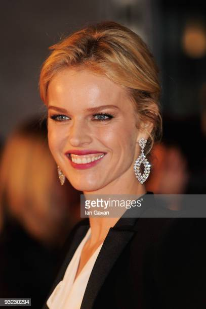 Model Eva Herzigova arrives at the 2010 Pirelli Calendar launch party at Old Billingsgate on November 19 2009 in London England