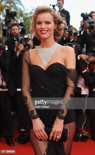 Model Eva Herzigova arrives at the 'Che' Premiere at the Palais des Festivals during the 61st International Cannes Film Festival on May 21, 2008 in...