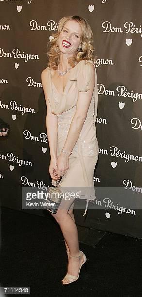 Model Eva Herzigova arrives at the International Launch of Dom Perignon Rose Vintage 1996 Champagne by Karl Lagerfeld on June 2 2006 in Beverly Hills...