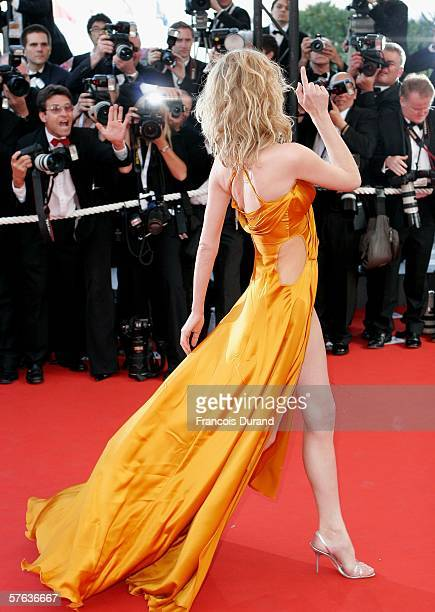 Model Eva Herzigova attends 'The Da Vinci Code' World Premiere Opening Gala at the Palais during the 59th International Cannes Film Festival May 17...