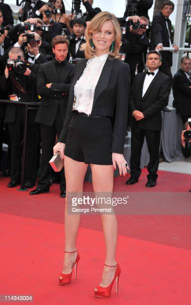 Model Eva Herzigova attends the La Conquete Premiere during the 64th Annual Cannes Film Festival at the Palais des Festivals on May 18 2011 in Cannes...