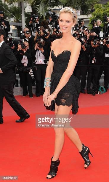 Model Eva Herzigova attends the premiere of 'The Princess Of Montpensier' at the Palais des Festivals during the 63rd Annual Cannes Film Festival