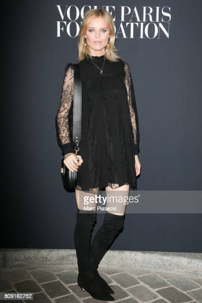 Model Eva Herzigova attends Vogue Foundation Dinner during Paris Fashion Week as part of Haute Couture Fall/Winter 20172018 at Musee Galliera on July...