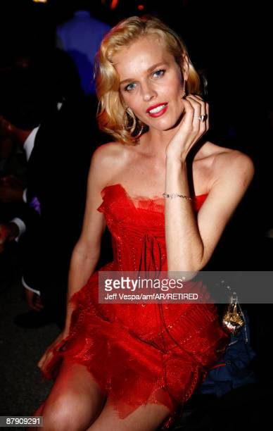 Model Eva Herzigova during the amfAR Cinema Against AIDS 2009 benefit after party at the Hotel du Cap during the 62nd Annual Cannes Film Festival on...