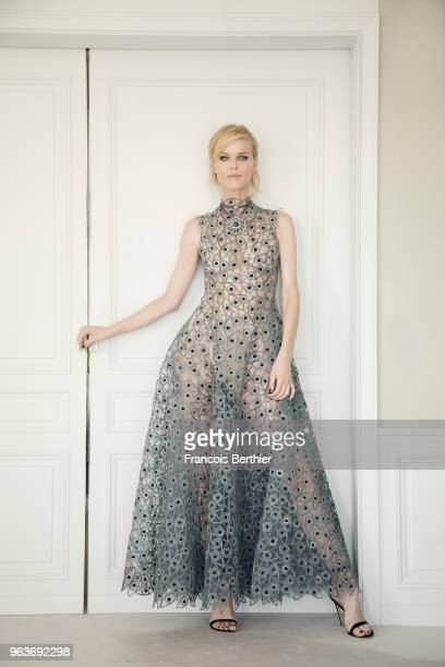 Model Eva Herzigova is photographed for Gala Croisette on May 2018 in Cannes France