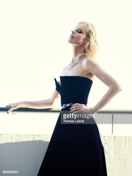 Model Eva Herzigova is photographed for Self Assignment on May 2018 in Cannes France