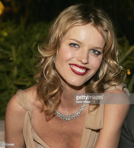 Model Eva Herzigova poses at the International Launch of Dom Perignon Rose Vintage 1996 Champagne by Karl Lagerfeld on June 2 2006 in Beverly Hills...
