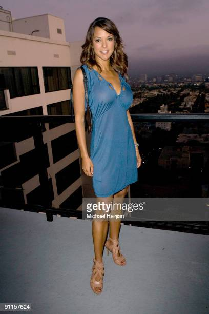 Model Eva La Rue attends the Zara Terez west coast launch benefiting the Elizabeth Glaser Foundation at the Sky Bar at the Mondrian Hotel on August...