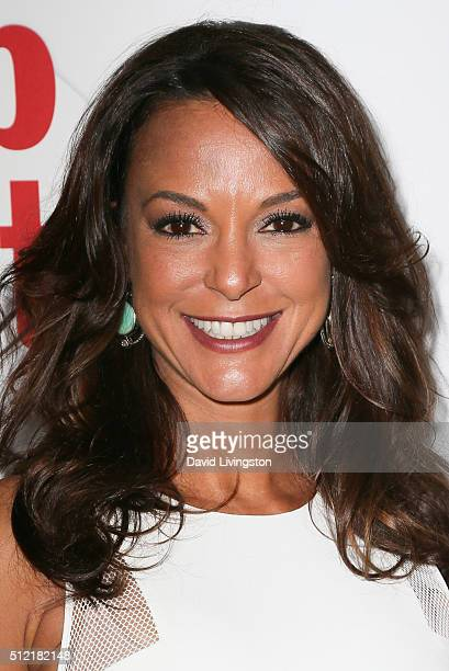 Model Eva LaRue arrives at the 40th Anniversary of the Soap Opera Digest at The Argyle on February 24 2016 in Hollywood California