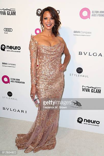 Model Eva LaRue attends the 24th Annual Elton John AIDS Foundation's Oscar Viewing Party on February 28 2016 in West Hollywood California