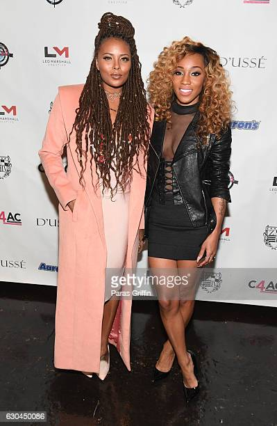 Model Eva Marcille and singer Dondria attend 9th Annual Celebration 4 A Cause Fashion Show at King Plow Arts Center on December 22 2016 in Atlanta...