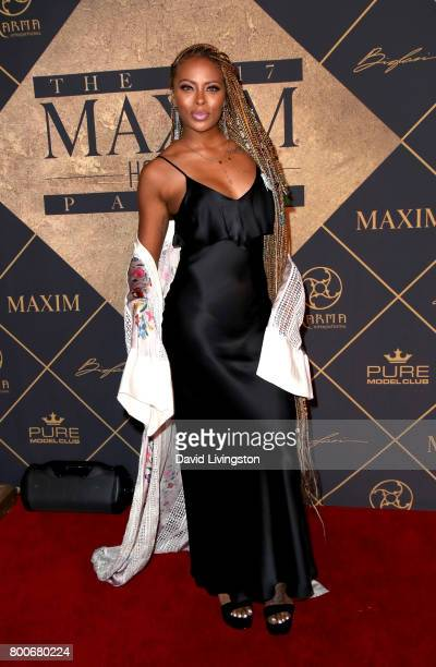 Model Eva Marcille attends The 2017 MAXIM Hot 100 Party produced by Karma International at The Hollywood Palladium in celebration of MAXIMÕs Hot 100...