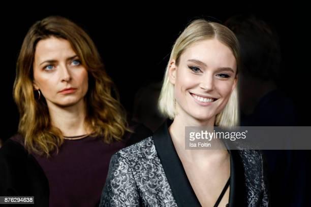 Model Eva Padberg and model Kim Hnizdo attend the New Faces Award Style 2017 at The Grand on November 15 2017 in Berlin Germany